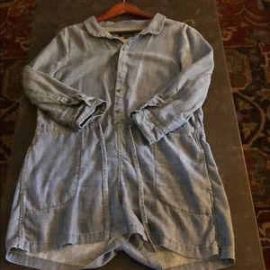 Anthropologie chambray short jumpsuit. Size L.